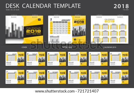 calendar 2019 desk calendar 2018 template set of 12 months planner week