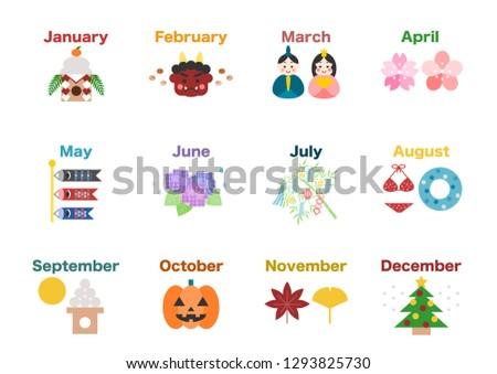 calendar  event icons set