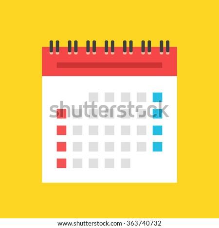 Calendar flat icon. US version. Vector illustration