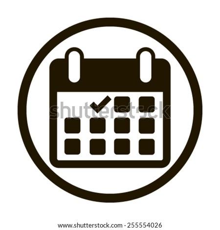 Calendar flat icon - Vector