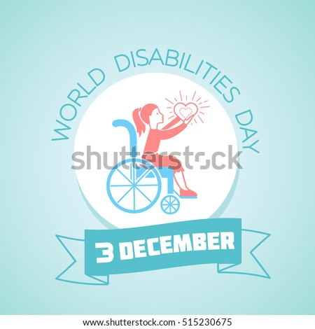 Calendar for each day on december 3. Greeting card. Holiday - World Disabilities day. Icon in the linear style