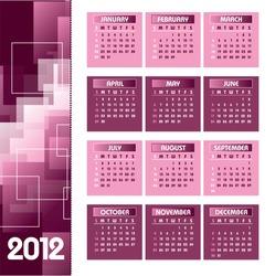 Calendar for 2012. Eps10 Format.