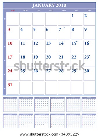 2010 vector calendar 123freevectors for 2104 calendar template