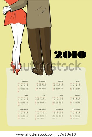 calendar for 2010 in english