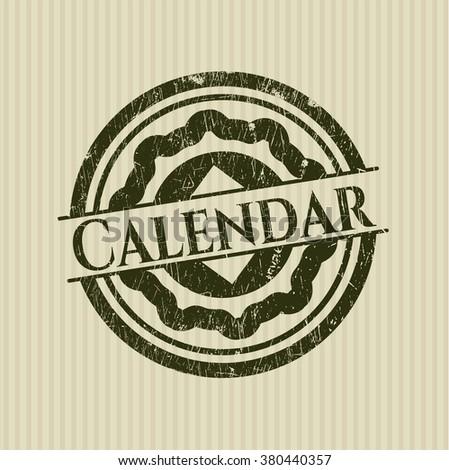 Calendar grunge seal