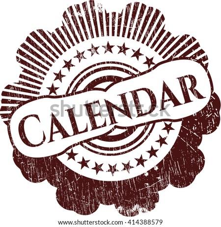 Calendar grunge style stamp