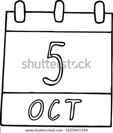 calendar hand drawn in doodle