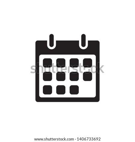 calendar icon design template. Trendy style, vector eps 10