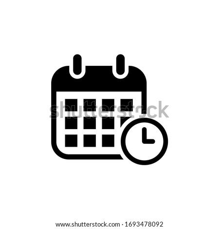 Calendar icon. schedule, date icon vector illustration