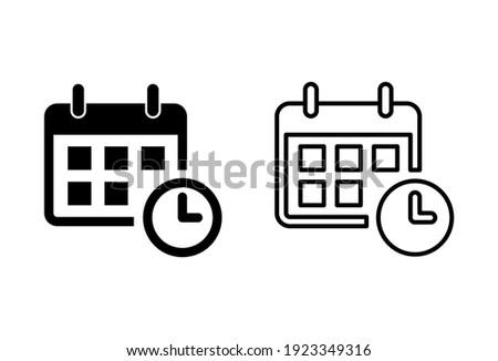 Calendar icon set. Calender symbol. calendar vector icon Foto stock ©
