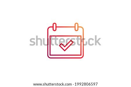 calendar icon symbol. Vector illustration for graphic design, Web, UI, app.