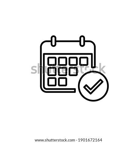 Calendar icon vector. Calender symbol. calendar vector icon