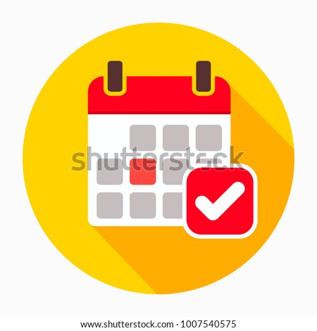 Calendar icon vector, filled flat sign, solid pictogram. Event reminder symbol,  icon. Event, icon, calendar, check, glyph, application, business, celebration, date, day, deadline