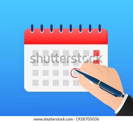 Calendar icon vector. Illustration on white backdrop. Holiday vector illustration. Time icon vector. Business organizer.
