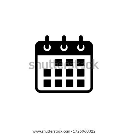 Calendar icon vector. Schedule, date icon symbol illustration