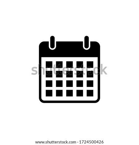 Calendar icon vector. Schedule icon symbol
