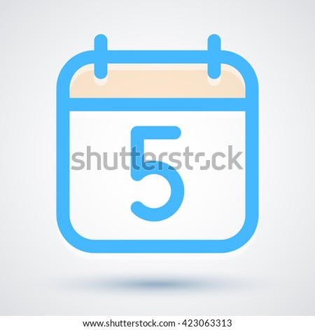 calendar icon vector simple