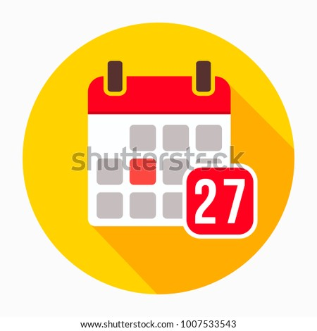 Calendar icon vector, solid logo illustration, pictogram isolated on white