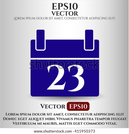 calendar icon vector symbol flat eps jpg app web concept website