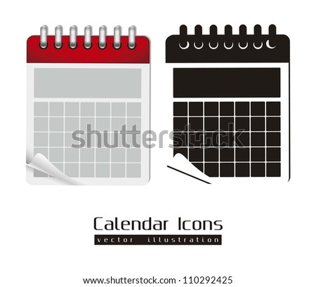 Calendar icons illustration isolated on white background, vector illustration
