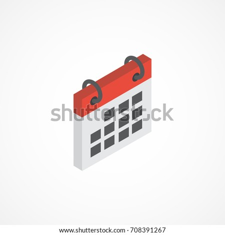 Calendar isometric icon. 3d vector illustration.