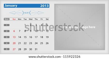 Calendar 2013 january