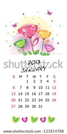 Calendar 2013-January