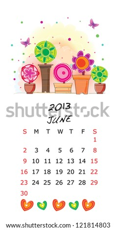 Calendar 2013-June