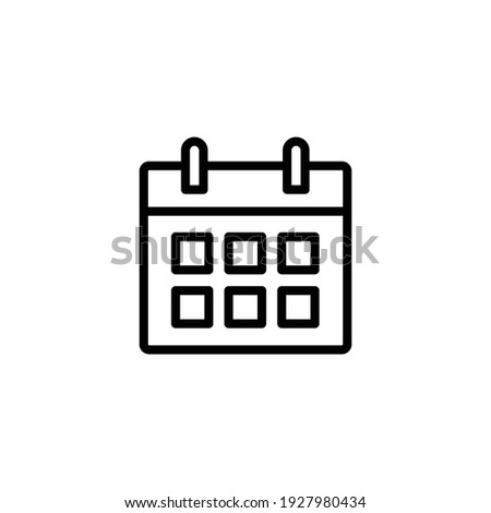 Calendar line icon. Simple outline style. Schedule, date, day, plan, symbol concept. Vector illustration isolated on white background. EPS 10.