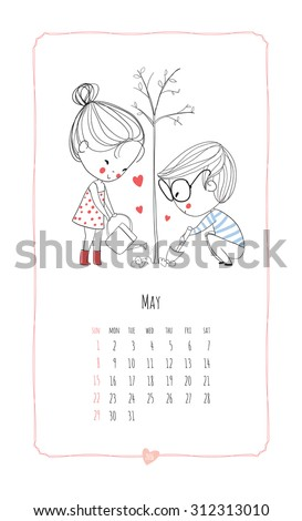 calendar 2016 loving boy and