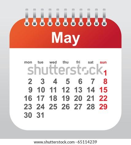 calendar 2011: may