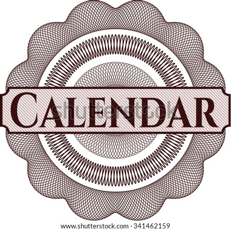 Calendar money style rosette