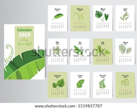 calendar 2020 nature design the