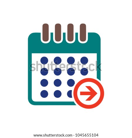 calendar next day icon, vector calendar icon, event symbol