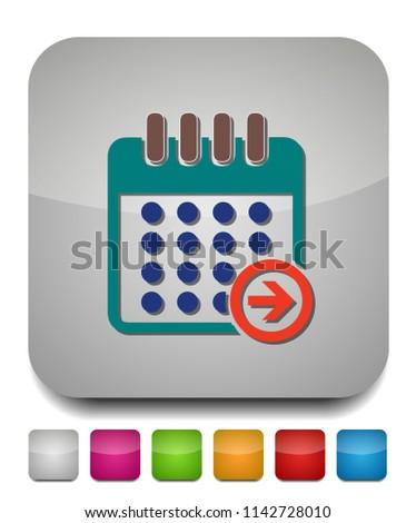 calendar next day icon, vector calendar icon, event symbol