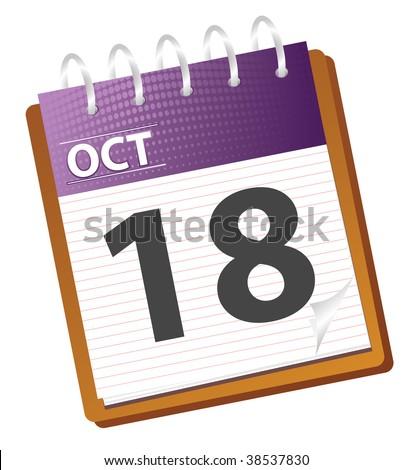 calendar october in vector mode