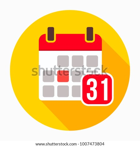 Calendar 31 of december icon vector, filled flat sign, solid pictogram isolated on white. Holiday date and time symbol, logo illustration