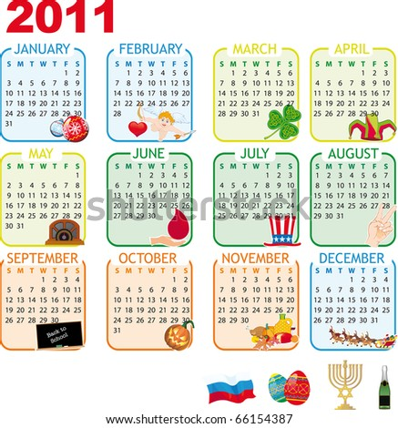 2011 calendar with holidays. january 2011 calendar with