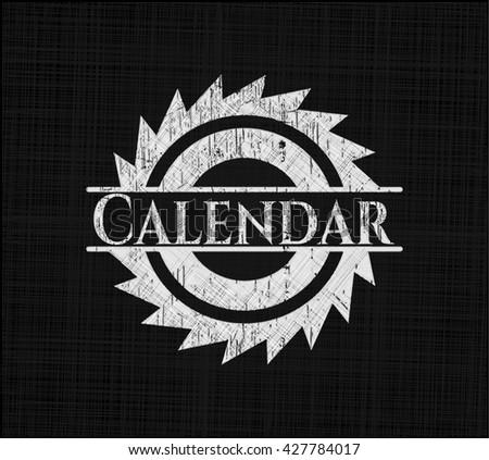 Calendar on chalkboard