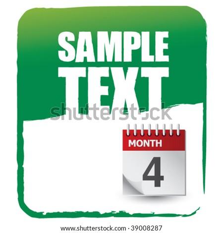 calendar on green advertisement