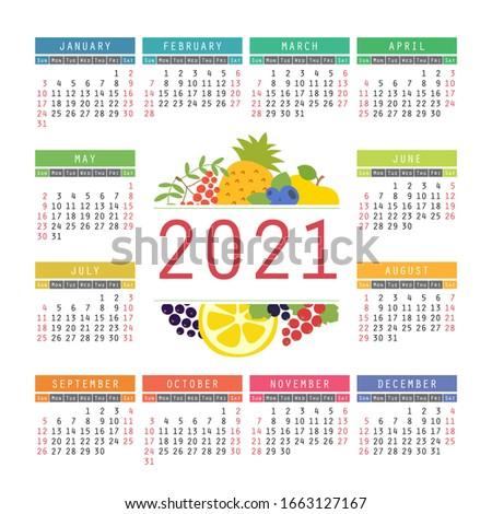 calendar 2021 organic healthy