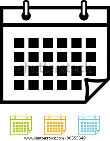 Calendar organizer - Vector icon