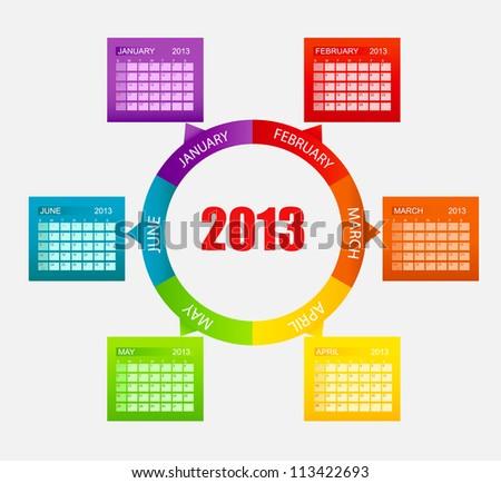 calendar 2013 part 1 vector
