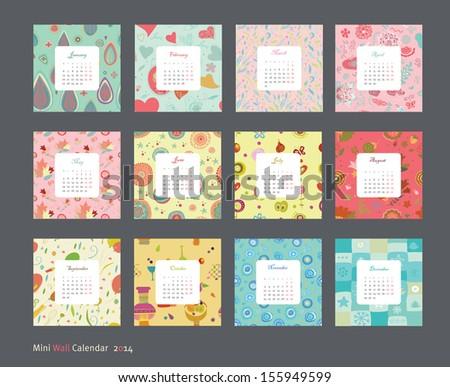 Calendar pattern 2014