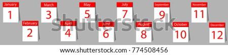 calendar planner year vector