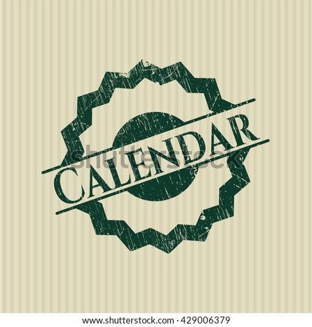 Calendar rubber grunge seal