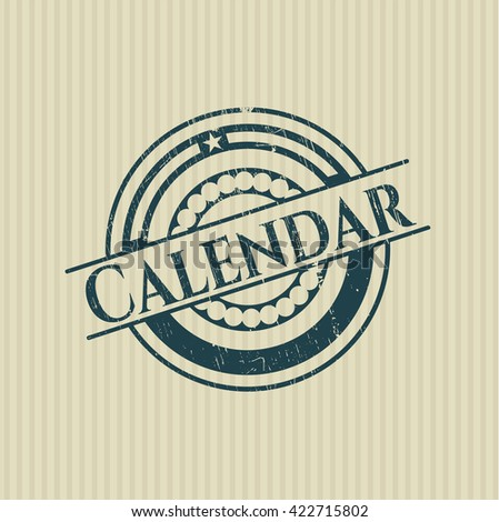 Calendar rubber seal with grunge texture