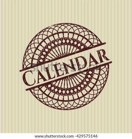 Calendar rubber texture
