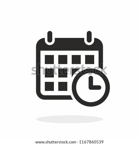 Calendar, schedule vector icon