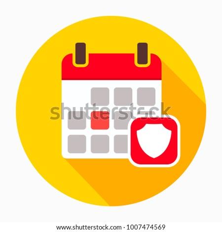 Calendar security shield icon